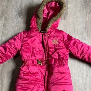 Girls pink juice couture coat